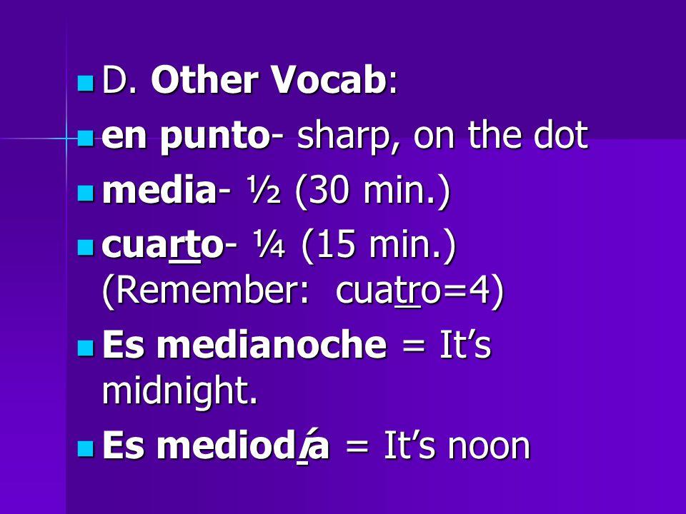 D. Other Vocab: D.