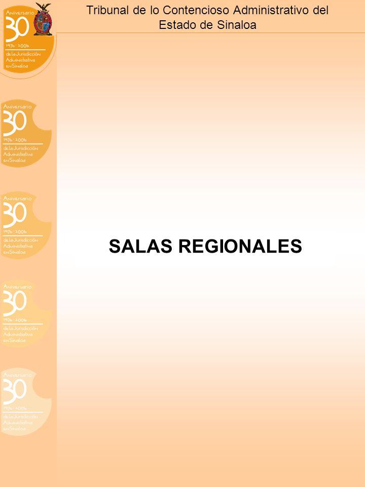 Tribunal de lo Contencioso Administrativo del Estado de Sinaloa SALAS REGIONALES
