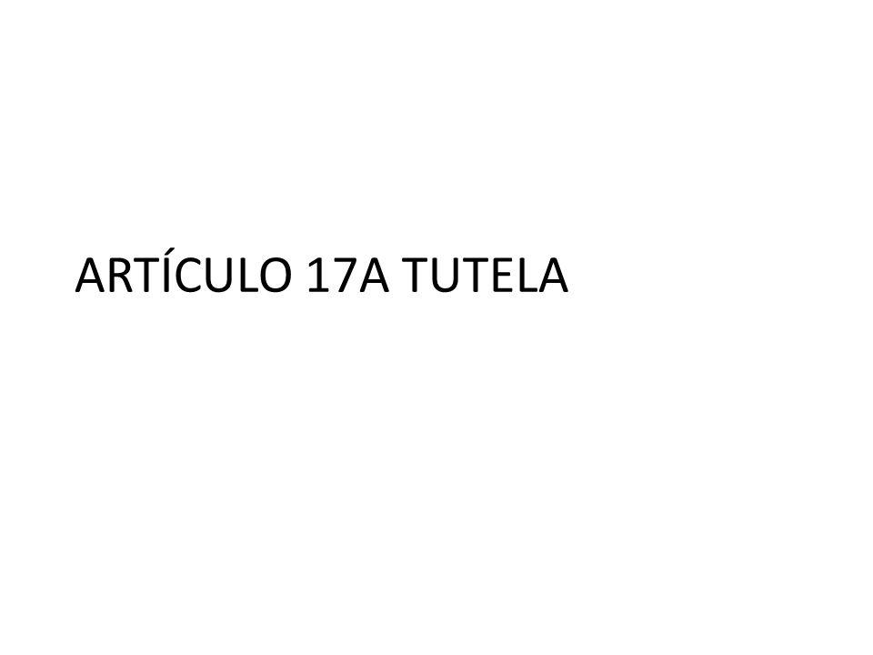 ARTÍCULO 17A TUTELA