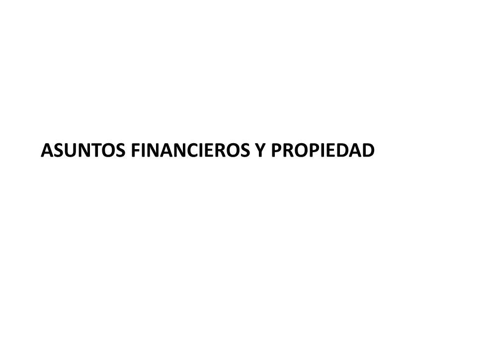 ASUNTOS FINANCIEROS Y PROPIEDAD