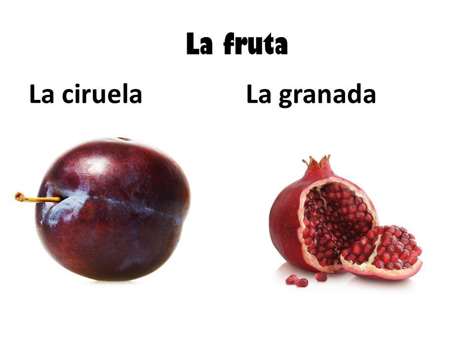 La fruta La ciruelaLa granada