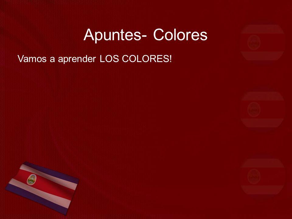 Apuntes- Colores Vamos a aprender LOS COLORES!