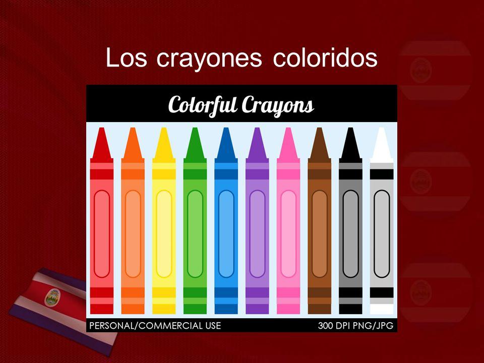 Los crayones coloridos