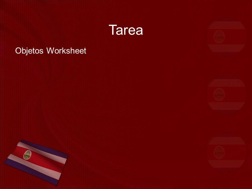 Tarea Objetos Worksheet