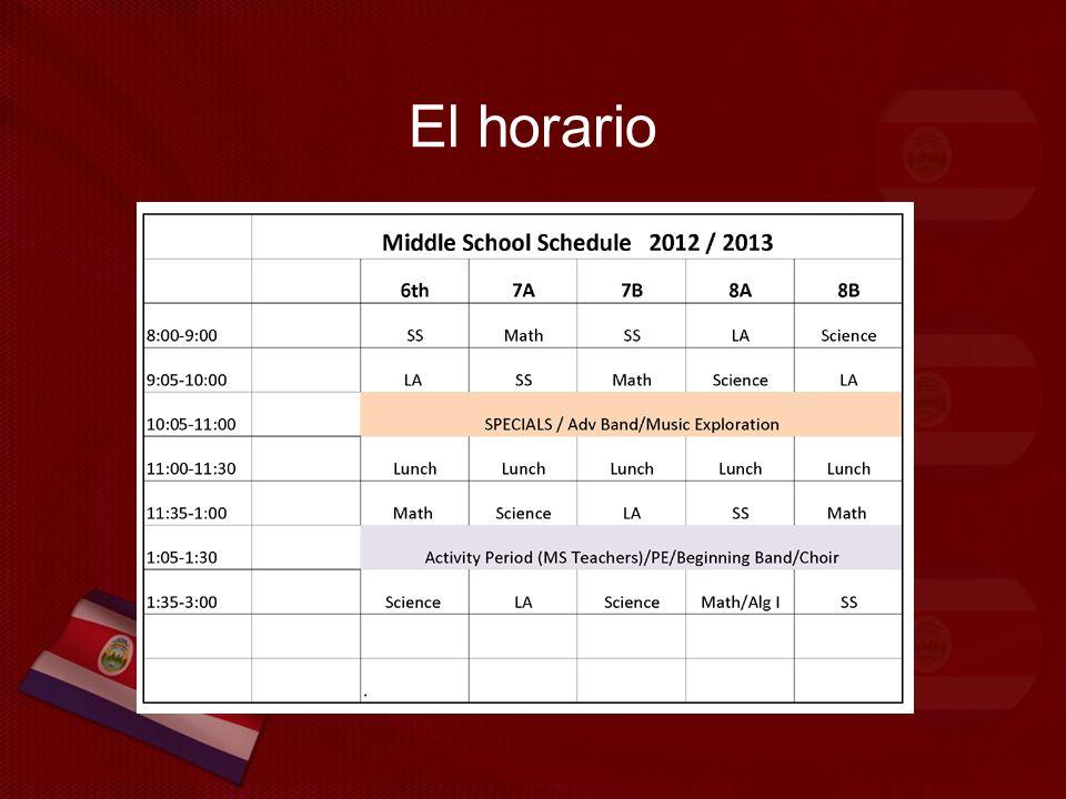 El horario