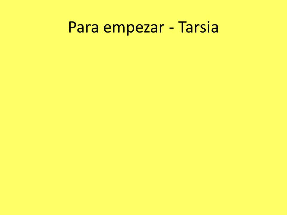 Para empezar - Tarsia