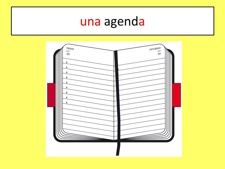 una agenda