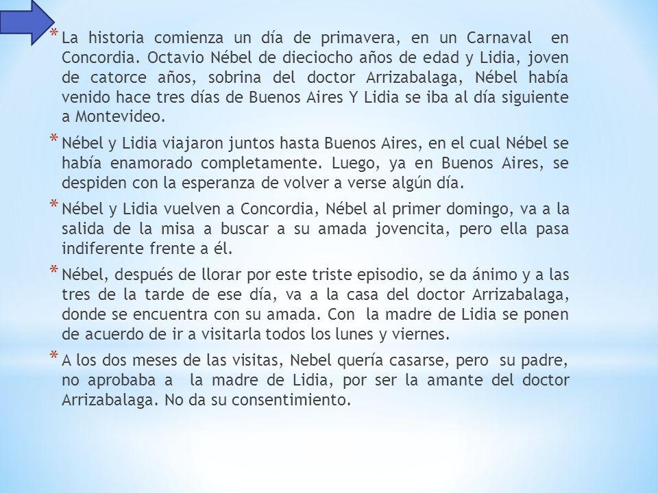 * La historia comienza un día de primavera, en un Carnaval en Concordia.