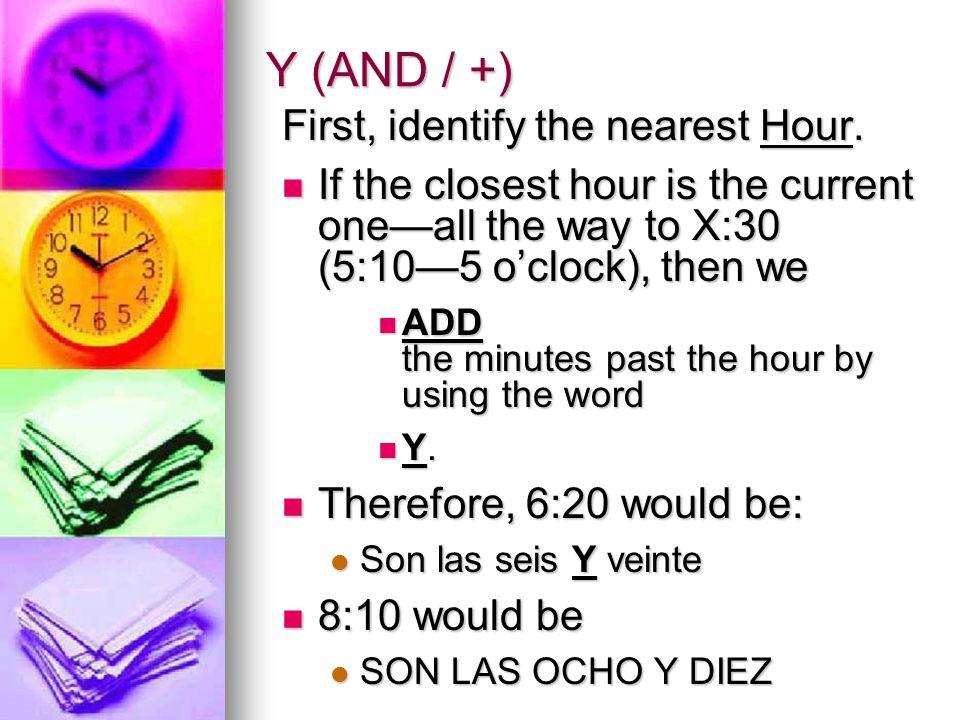 Son las tres. 12 1 2 3 4 5 6 7 8 9 10 11 (etc.) ¿Qué hora es.