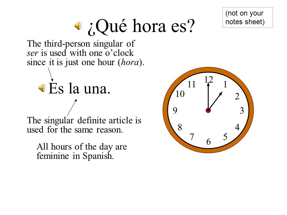 Singular vs. Plural. The next thing is to determine whether the hour is singular or plural.