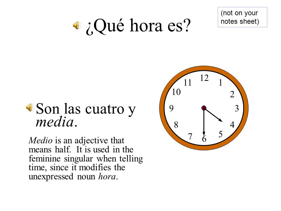 X:30 30 minutes is a 30 minutes is a Half hour. Half hour.