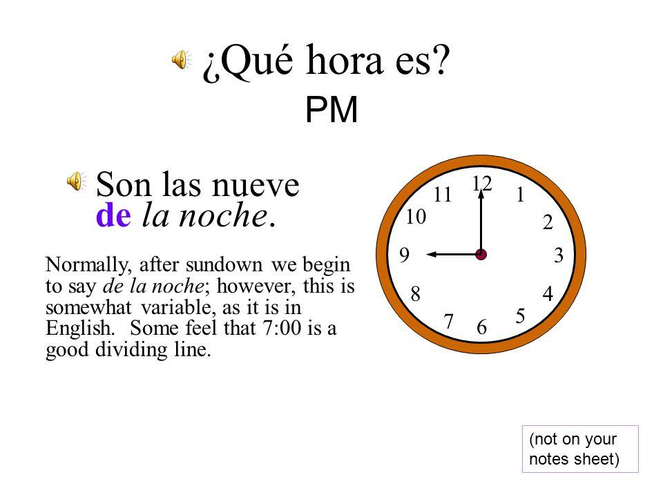 Son las seis de la tarde.
