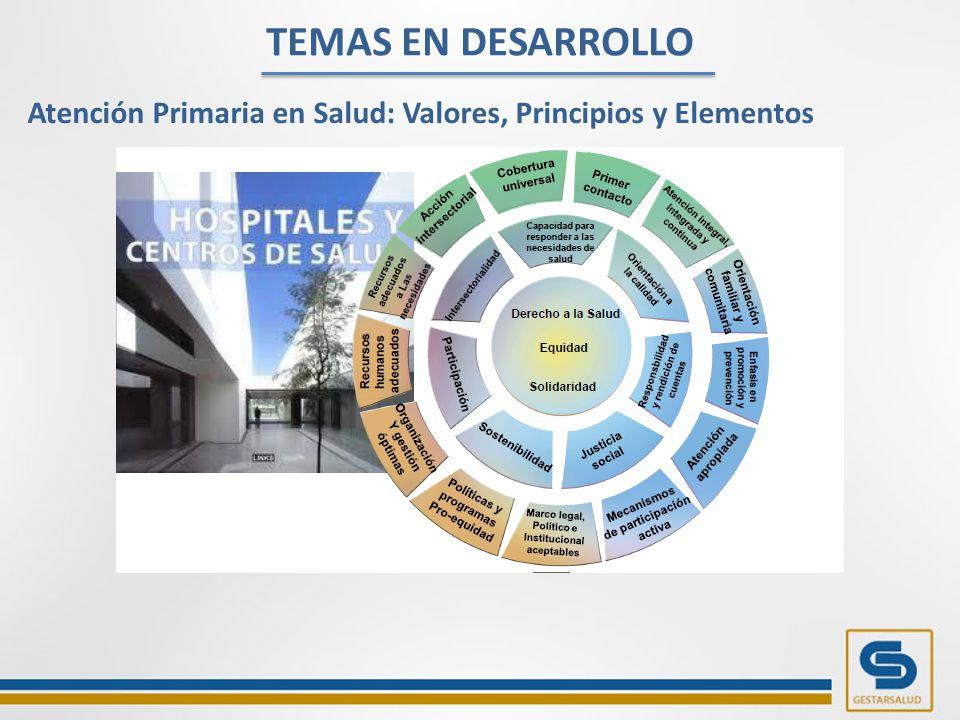 TEMAS EN DESARROLLO Atención Primaria en Salud: Valores, Principios y Elementos