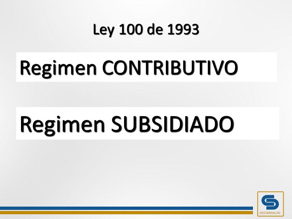 Ley 100 de 1993 1.