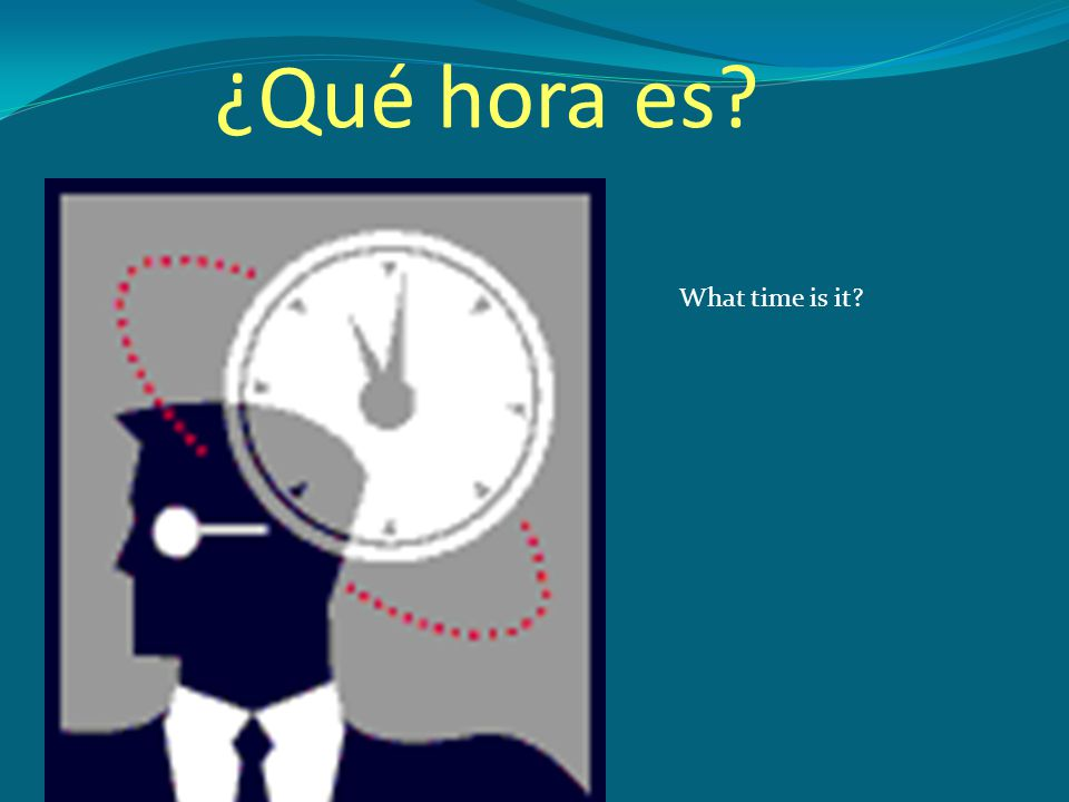¿Qué hora es What time is it