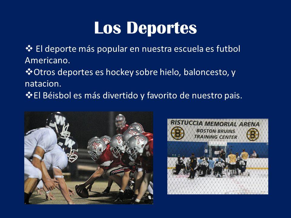 Los Deportes  El deporte más popular en nuestra escuela es futbol Americano.