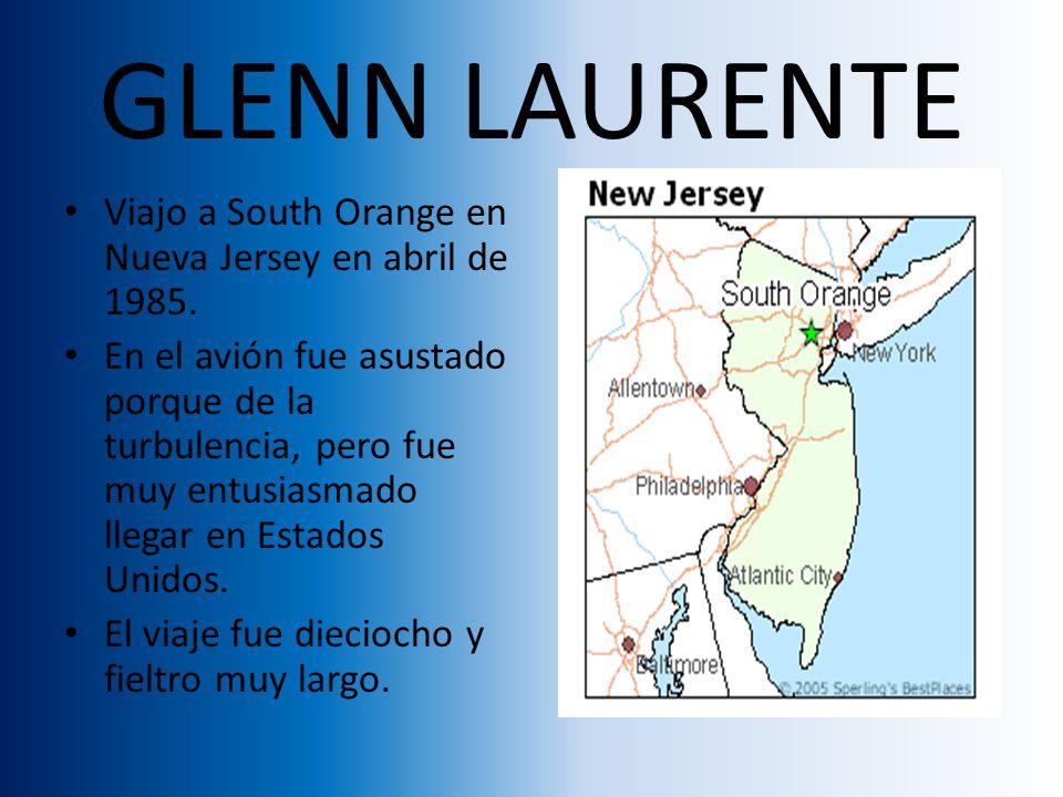 GLENN LAURENTE Viajo a South Orange en Nueva Jersey en abril de 1985.