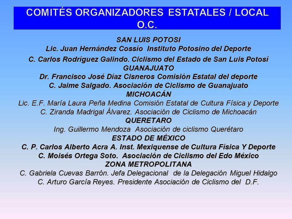SAN LUIS POTOSI Lic. Juan Hernández Cossío Instituto Potosino del Deporte C.