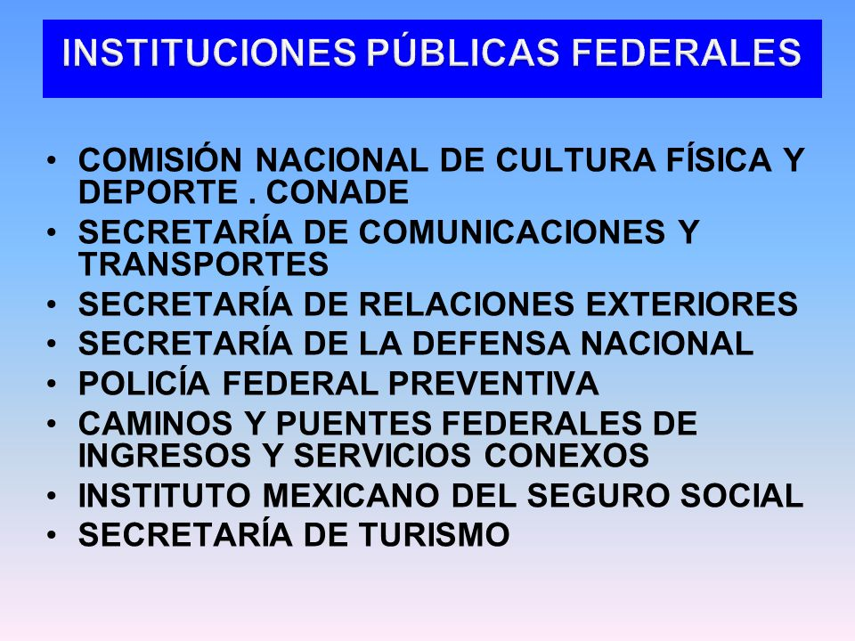 COMISIÓN NACIONAL DE CULTURA FÍSICA Y DEPORTE.