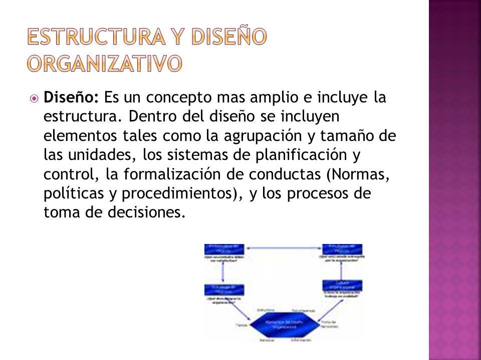  Diseño: Es un concepto mas amplio e incluye la estructura.