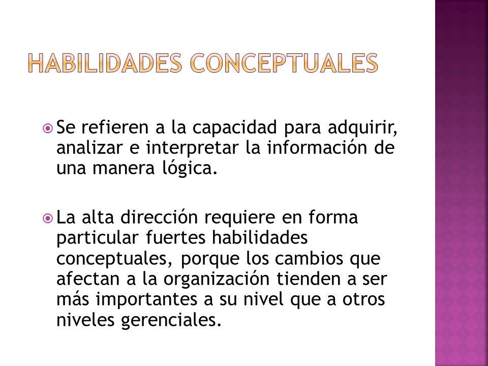 Se refieren a la capacidad para adquirir, analizar e interpretar la información de una manera lógica.
