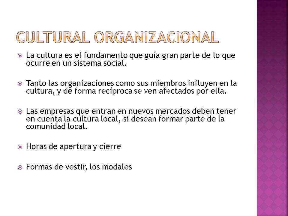  La cultura es el fundamento que guía gran parte de lo que ocurre en un sistema social.