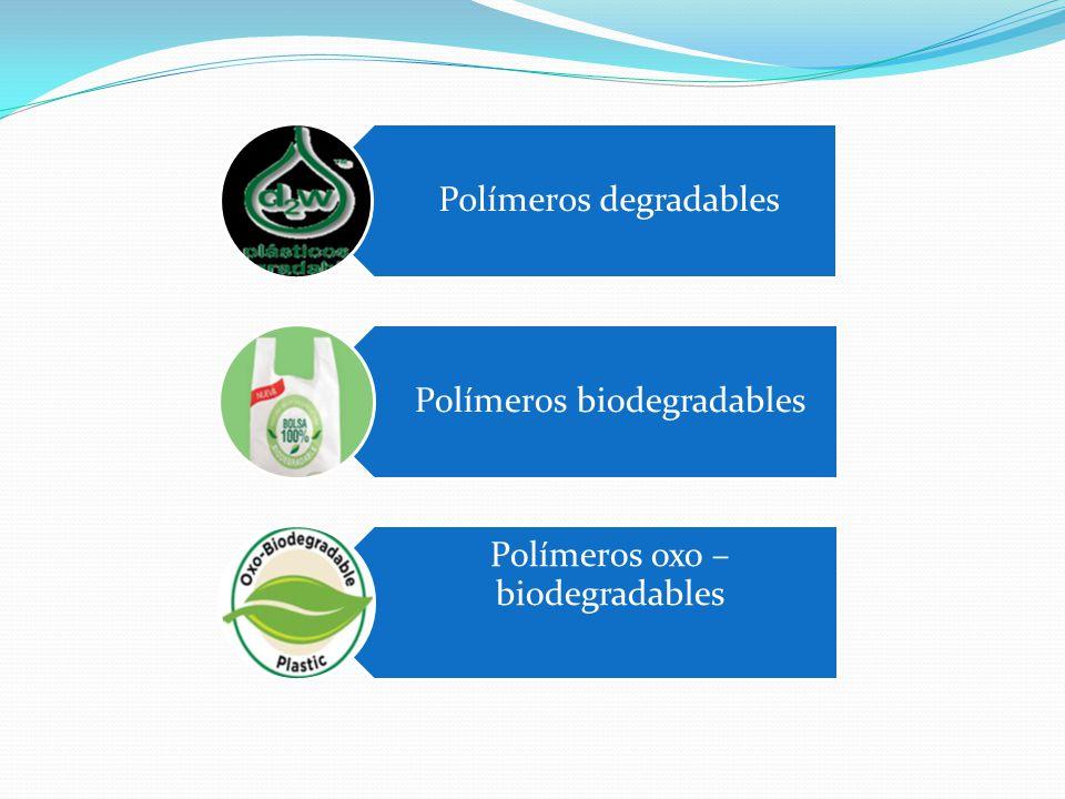 Polímeros degradables Polímeros biodegradables Polímeros oxo – biodegradables
