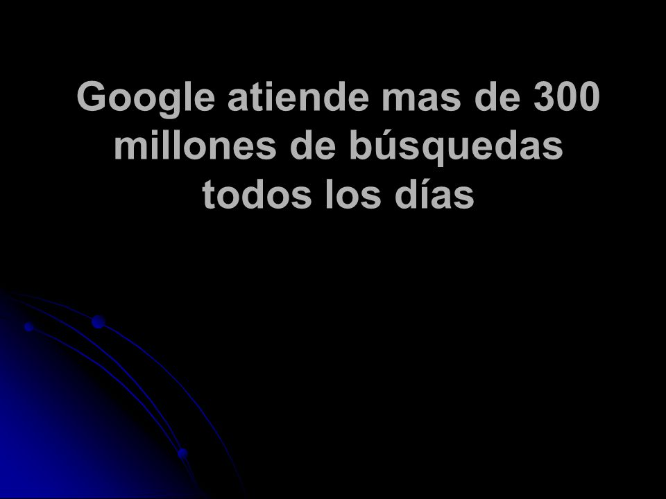 Google atiende mas de 300 millones de búsquedas todos los días