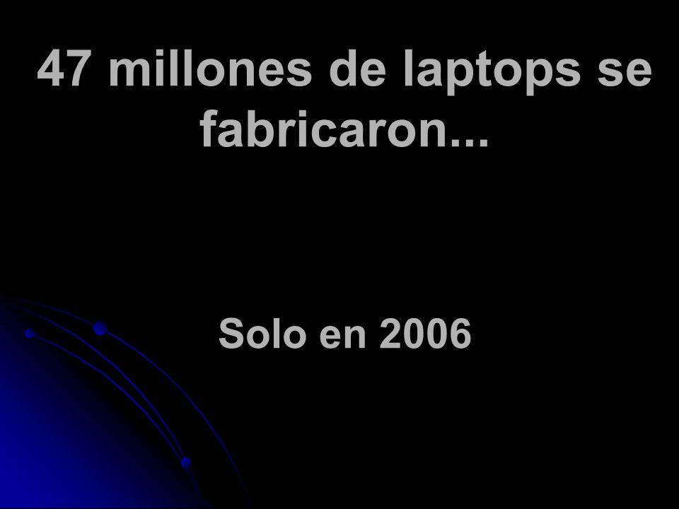 47 millones de laptops se fabricaron... Solo en 2006