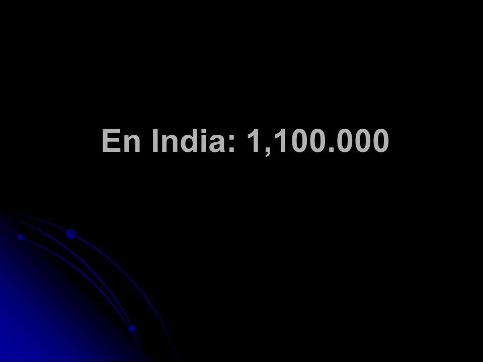 En India: 1,100.000