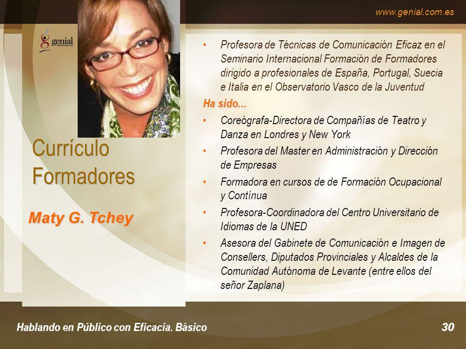 www.genial.com.es Hablando en Público con Eficacia.
