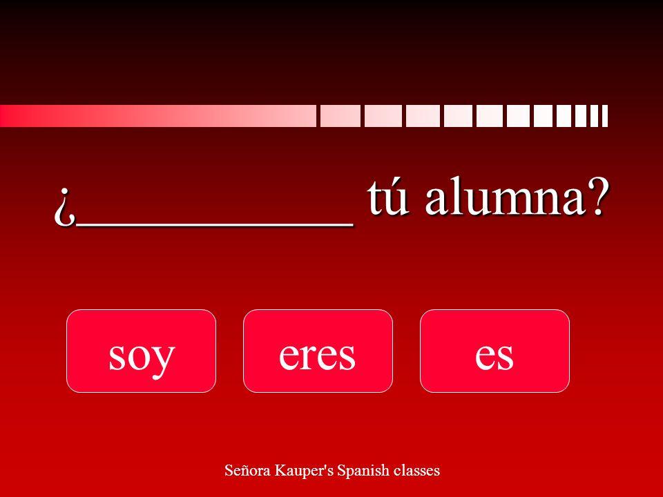Sí, ________ guapo. soy ereses Señora Kauper s Spanish classes