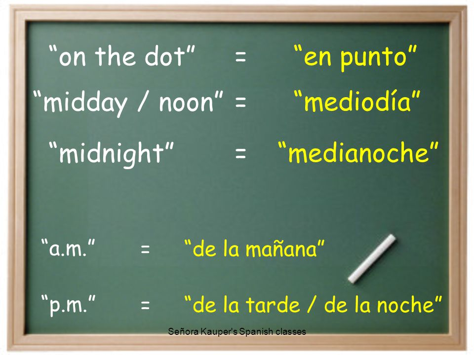 Pero, después de la media hora… …y… menosmenos Señora Kauper s Spanish classes