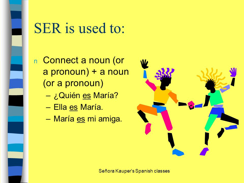 SER is used to express: n characteristics –¿Cómo son los autobuses.