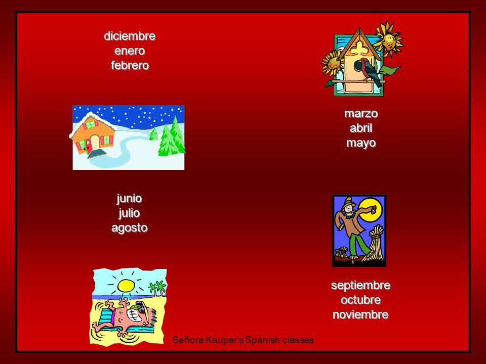 Las estaciones del año… el invierno la primavera el verano el otoño Señora Kauper s Spanish classes