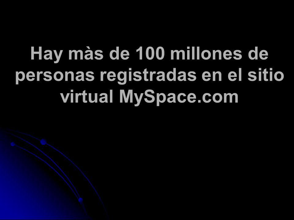 Hay màs de 100 millones de personas registradas en el sitio virtual MySpace.com
