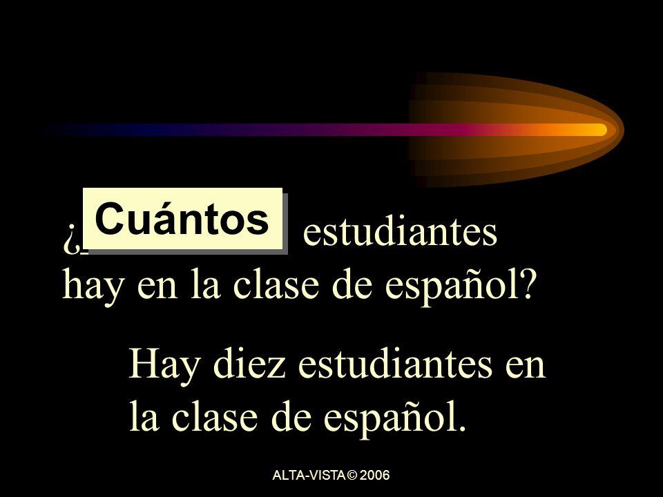 ¿_________ estudiantes hay en la clase de español.
