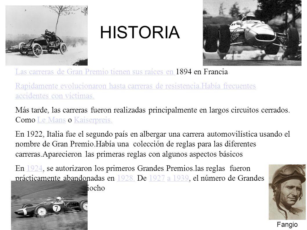 Las carreras de Gran Premio tienen sus raíces en Las carreras de Gran Premio tienen sus raíces en 1894 en Francia Rapidamente evolucionaron hasta carreras de resistencia.Había frecuentes accidentes con víctimas.