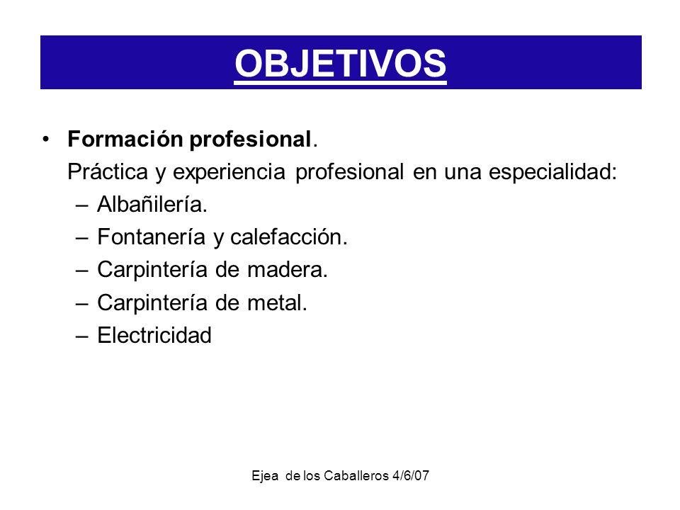 Ejea de los Caballeros 4/6/07 Formación profesional.