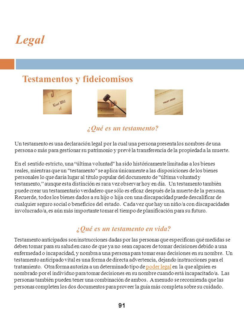 91 Legal Testamentos y fideicomisos ¿Qué es un testamento.