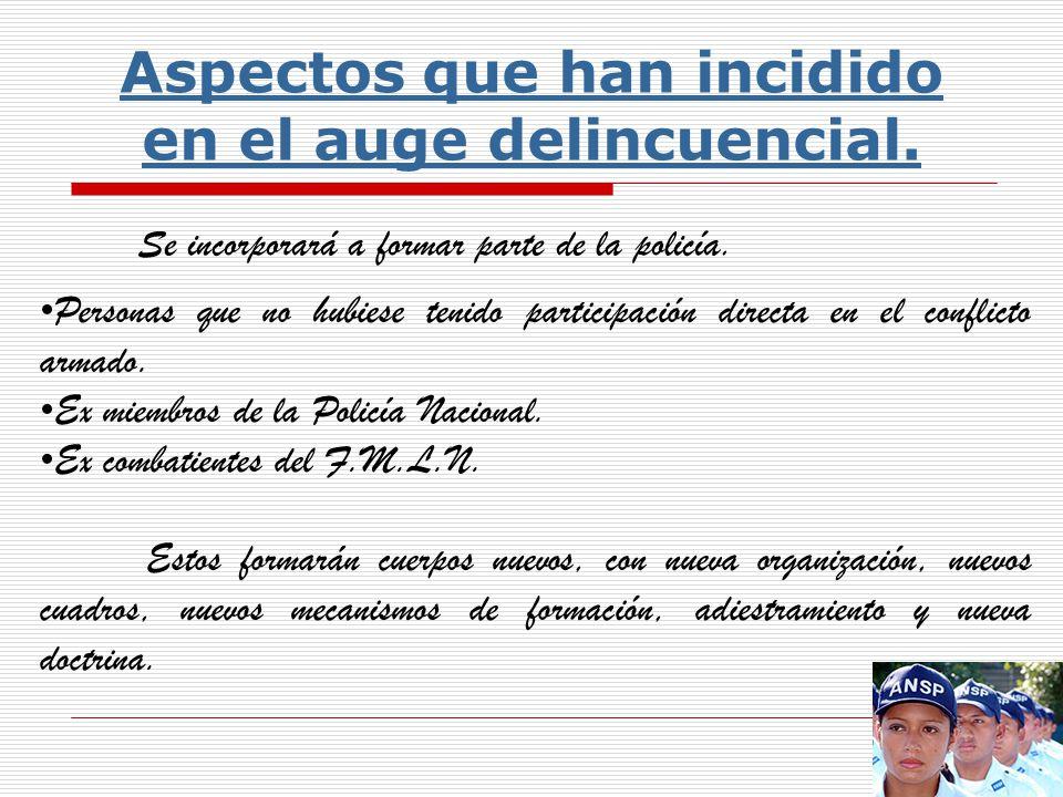 6- Entidad policial neófita, mal estructurada, sin preparación.- La Policía Nacional Civil, es la entidad encargada de la seguridad pública.