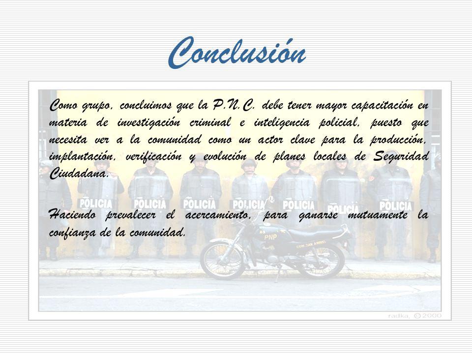 De acuerdo al artículo 159 de la Constitución de la República, se crea la Policía Nacional Civil.