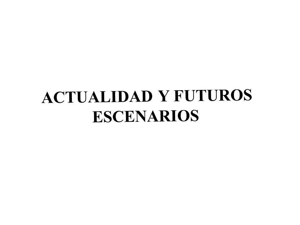 ACTUALIDAD Y FUTUROS ESCENARIOS