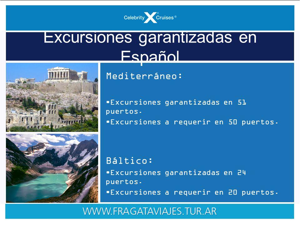Mediterráneo: Excursiones garantizadas en 51 puertos.