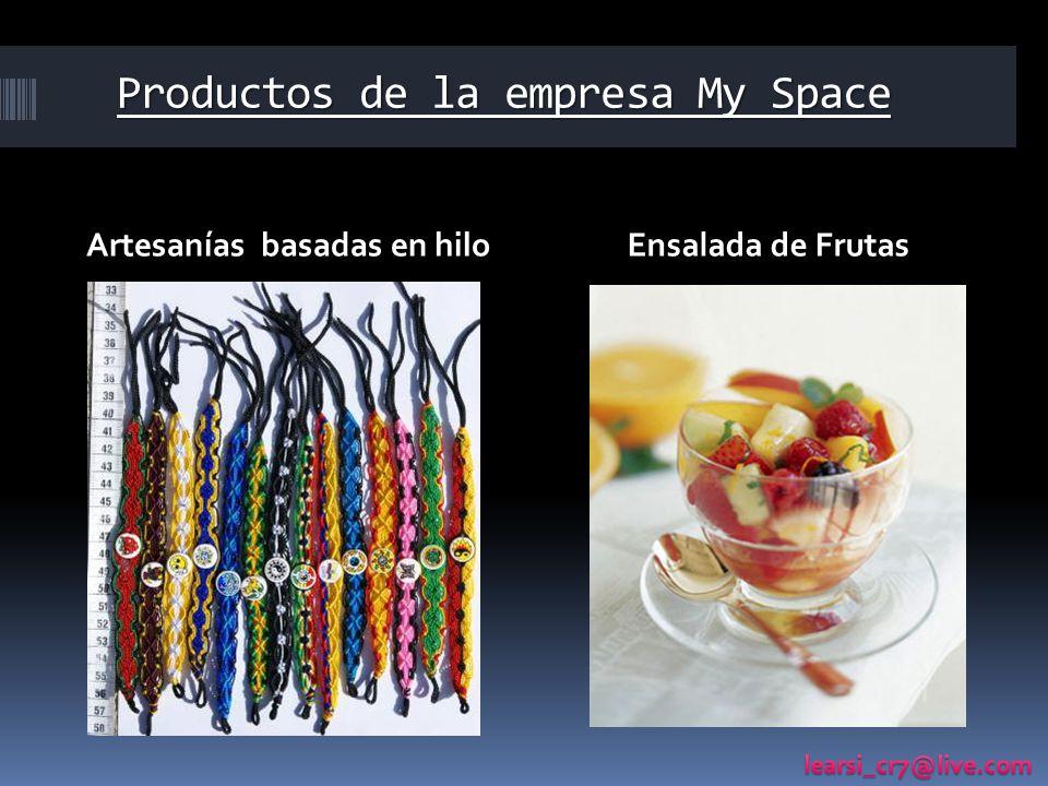 Productos de la empresa My Space Artesanías basadas en hiloEnsalada de Frutas