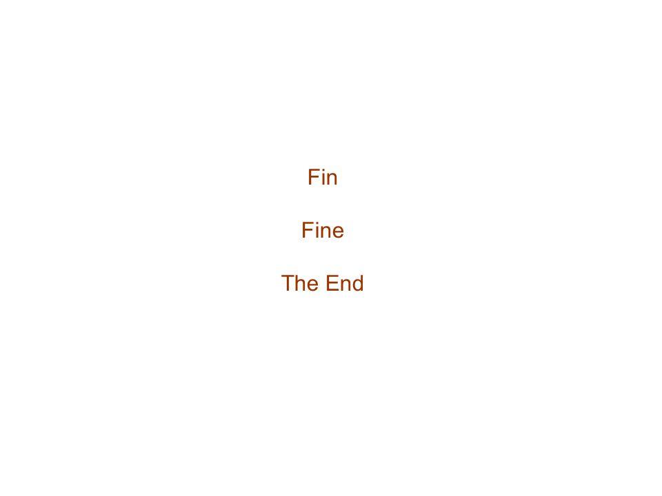 Fin Fine The End