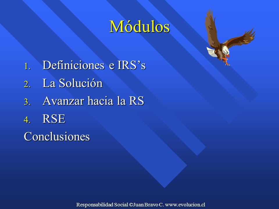 Responsabilidad Social ©Juan Bravo C. www.evolucion.cl Módulos 1.