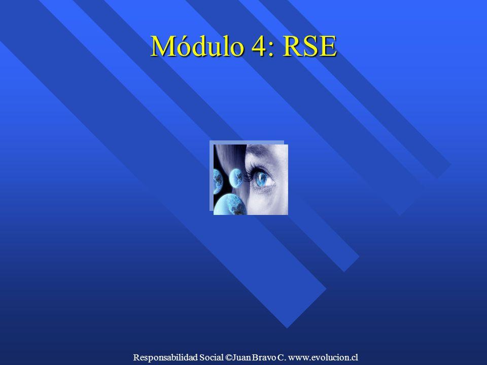 Responsabilidad Social ©Juan Bravo C. www.evolucion.cl Módulo 4: RSE