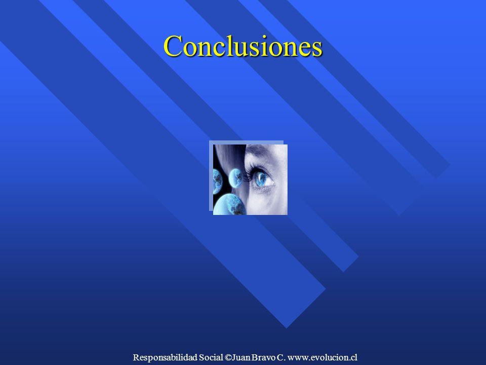 Responsabilidad Social ©Juan Bravo C. www.evolucion.cl Conclusiones