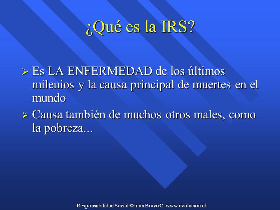 Responsabilidad Social ©Juan Bravo C. www.evolucion.cl ¿Qué es la IRS.
